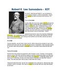 Robert E Lee Surrenders -- CLOZE Reading Passage