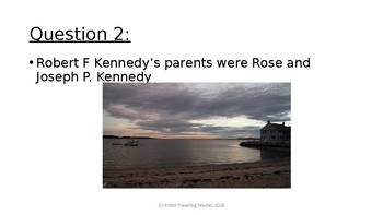 Robert F (Bobby) Kennedy - Biographical Facts Quiz (Presentation)