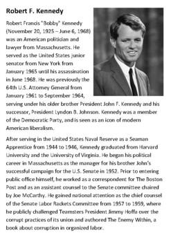 Robert F. Kennedy Handout
