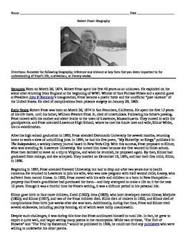 Robert Frost: Biography Annotate