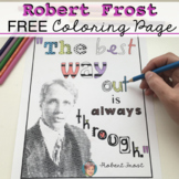 FREE National Poetry Month Activity | Robert Frost Quote C
