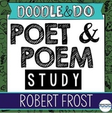 Robert Frost - Poet and Poem Study - Doodle Notes, Doodle Article, Flip Book