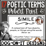 Robert Frost Poetry Figurative Language Editable Posters