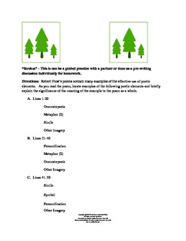 Robert Frost Poetry Lessons and Analysis Activities  CC Aligned