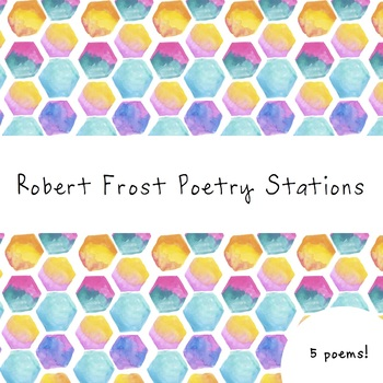 Robert Frost Poetry Stations for Middle/High School