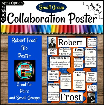Robert Frost Poetry Collaboration Group or Individual Poster