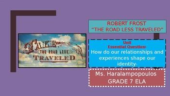 """Robert Frost """"The Road Not Taken"""""""