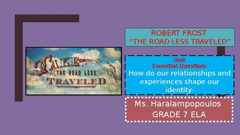 "Robert Frost ""The Road Not Taken"" PowerPoint"