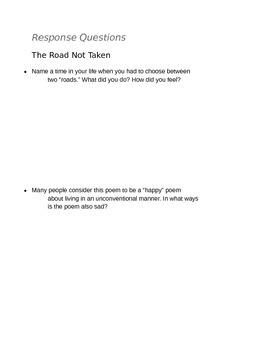 Robert Frost--The Road Not Taken