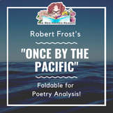 Robert Frost's Once by the Pacific Foldable for Poetry Analysis