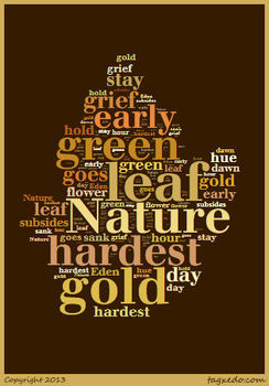 "Robert Frost's ""Nothing Gold Can Stay"" Word Cluster"