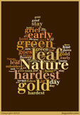 """Robert Frost's """"Nothing Gold Can Stay"""" Word Cluster"""