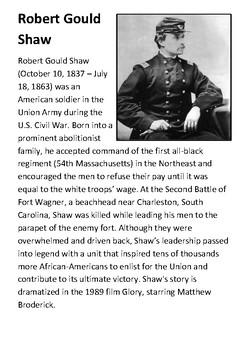 Robert Gould Shaw - Glory Handout