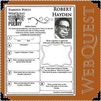 Robert Hayden - WEBQUEST for Poetry - Famous Poet