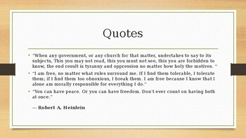 Robert Heinlein PowerPoint