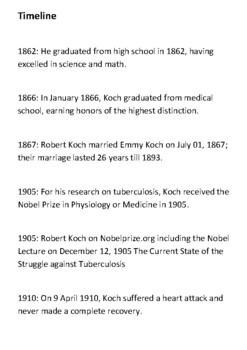 Robert Heinrich Hermann Koch Handout