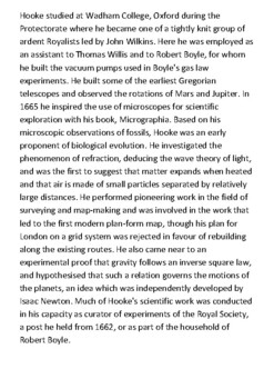 Robert Hooke Handout