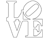 Robert Indiana LOVE Coloring Page