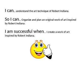 Robert Indiana Power Point Lesson