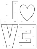 Robert Indiana Valentine's Day LOVE Letter Template