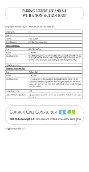 Robert Lee and Me: Historical fiction with the Common Core Standards - Literacy