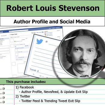Robert Louis Stevenson - Author Study - Profile and Social Media