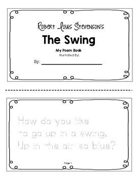 Robert Louis Stevenson S The Swing Tracer Booklet By Little