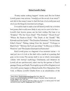 Robert Lowell's Poetry