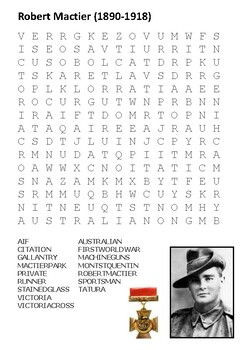 Robert Mactier Word Search