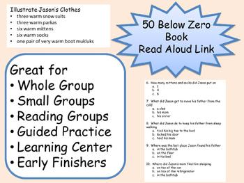 Robert Munsch 50 Below Zero Student Journal Comprehension Sequence of Events