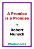 """Robert Munsch """"A Promise is a Promise"""" worksheets"""