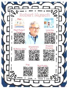 Robert Munsch Author Study with QR Codes