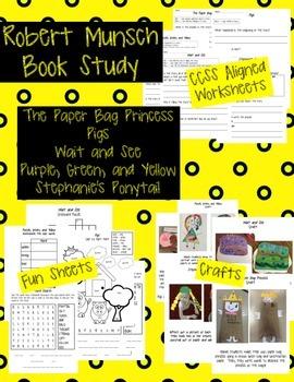 Robert Munsch Book Study: 1st Grade ELA CCSS Aligned