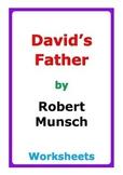 """Robert Munsch """"David's Father"""" worksheets"""
