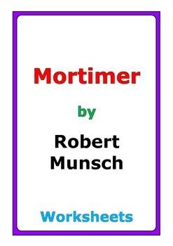 """Robert Munsch """"Mortimer"""" worksheets"""