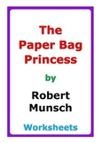 "Robert Munsch ""The Paper Bag Princess"" worksheets"