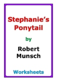 "Robert Munsch ""Stephanie's Ponytail"" worksheets"