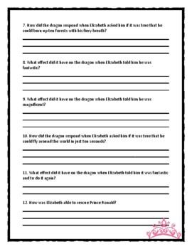 Robert Munsch THE PAPER BAG PRINCESS - Comprehension & Text Evidence