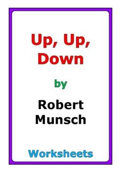 """Robert Munsch """"Up, Up, Down"""" worksheets"""
