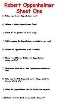 Robert Oppenheimer Reading Comprehension