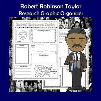 Robert Robinson Taylor Biography Research Graphic Organizer