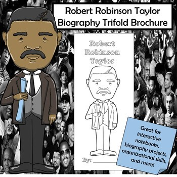Robert Robinson Taylor Biography Trifold Brochure