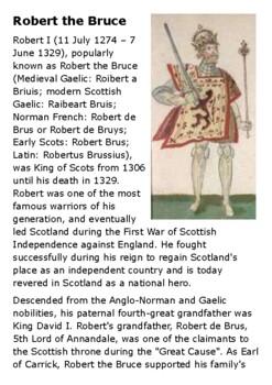 Robert the Bruce Handout