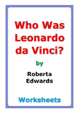 "Roberta Edwards ""Who Was Leonardo da Vinci?"" worksheets"