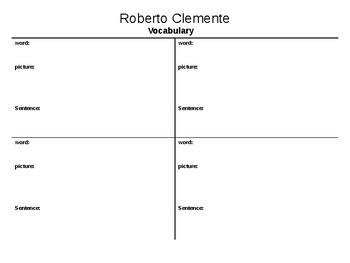 Roberto Clemente Graphic Organizers