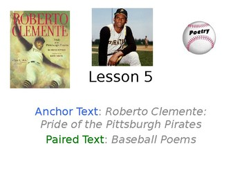 Roberto Clemente PowerPoint with Weekly Activities for Journeys 3rd Grade