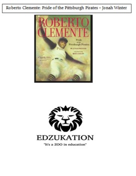 Roberto Clemente Pride of Pittsburgh Winter Common Core Reading Book Unit Study