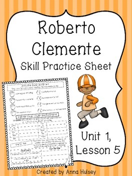 Roberto Clemente (Skill Practice Sheet)