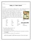 Roberto Clemente Spelling Activities Journeys 3rd Grade Lesson 5