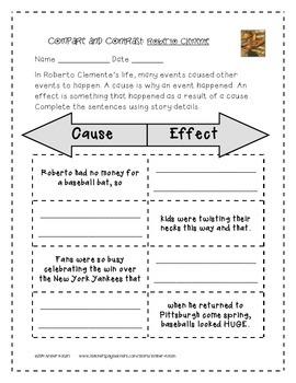 Roberto Clemente Supplemental Activities 3rd Grade Journeys Unit 1, Lesson 5